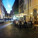 Ristorante Roma Borgo tavoli esterni sera