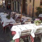 Ristorante Tre Pupazzi Roma tavoli all'aperto
